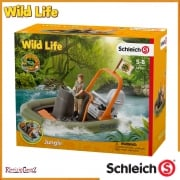 Schleich Wild Life CROCO Dinghy with Ranger