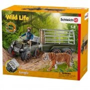 Schleich Wild Life CROCO Quad Bike with Trailer Ranger and Tiger