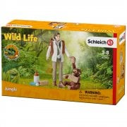 Schleich Wild Life CROCO Vet at work with Baby Orangutan