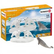 Schleich Wild Life Polar Playground with Polar Bears and Narwal