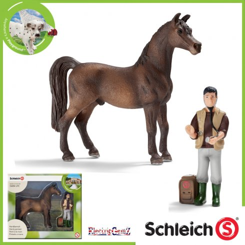 Schleich World Of Nature Farm Life Mini Playset Arabian