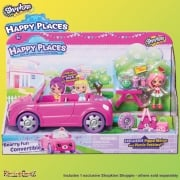Shopkins Happy Places Bearry Fun Convertible Car Playset