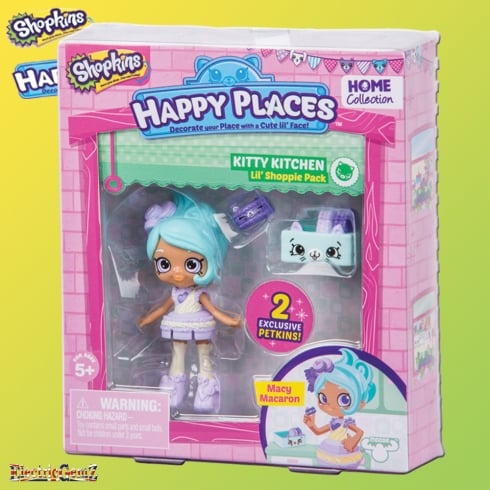 Shopkins Happy Places Lil' Shoppie Pack - Kitty Kitchen with Macy Macaron