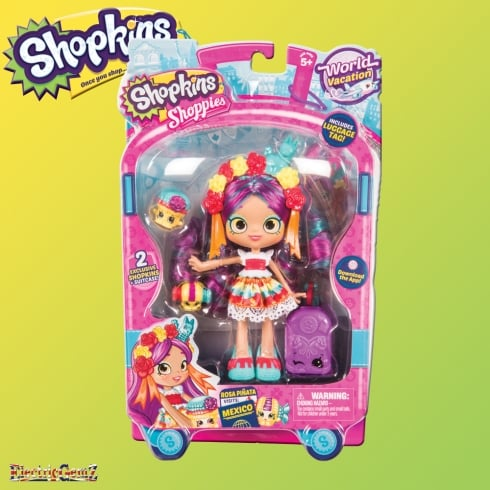 Shopkins World Vacation Rosa Piñata Visits Mexico
