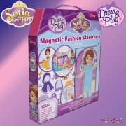 Sofia the First Dress and Play Magnetic Fashion Classroom