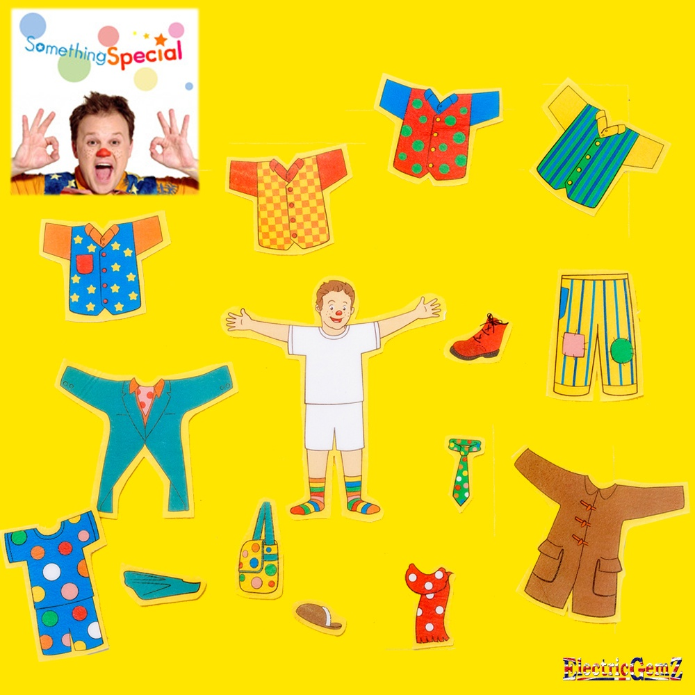 Something special dress up mr tumble stick on felts pack - Something special ...