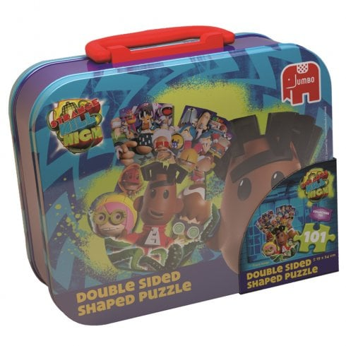 Strange Hill High 101 Piece Double Sided Shaped Jigsaw Puzzle in a Lunch Box