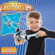 Stretch Armstrong - Mini Fetch - Blue with Red Collar