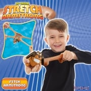 Stretch Armstrong - Mini Fetch - Brown with Green Collar