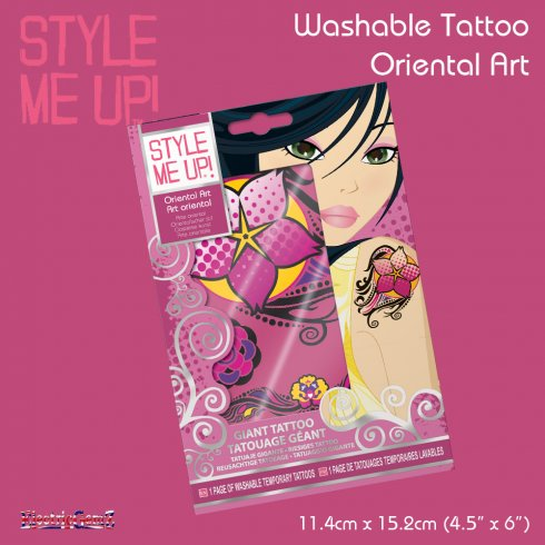 Style Me Up Temporary Tattoo - Oriental Art