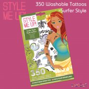 Style Me Up Washable Tattoos - Surfer Style