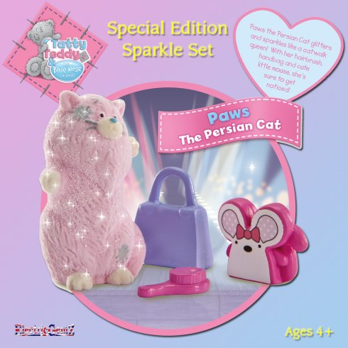 Tatty Teddy Special Edition Sparkle Set - Paws the Persian Cat