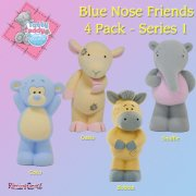 Me to You Tatty Teddy Tatty Teddy's Blue Nose Friends 4 Pack Series 1