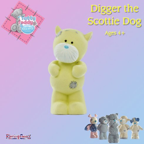 Tatty Teddy's Blue Nose Friends Digger the Scottie Dog