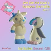 Me to You Tatty Teddy Tatty Teddy's Blue Nose Friends Zee Zee and Rainbow