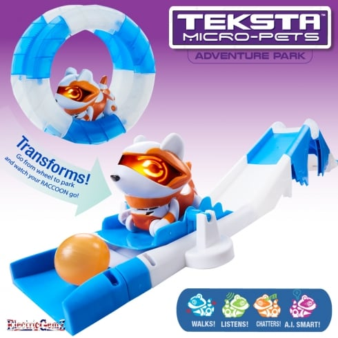 Teksta Micro-Pets Adventure Playset - Raccoon
