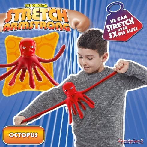 The Original Stretch Armstrong Mini Stretch Octopus - Red