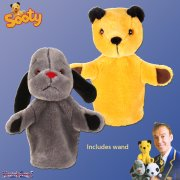 The Sooty Show Sooty & Sweep Puppet Set with Magic Wand