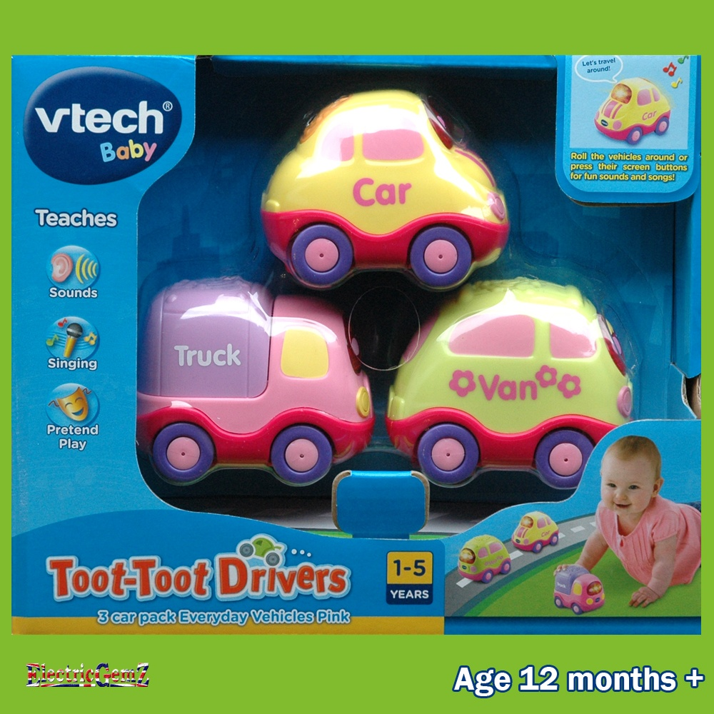 Vtech Baby Toot Toot Drivers 3 Car Pack Everyday Vehicles Pink