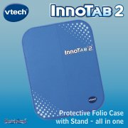vTech InnoTab 2 Blue Folio Case and Stand