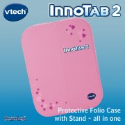 vTech InnoTab 2 Pink Folio Case and Stand