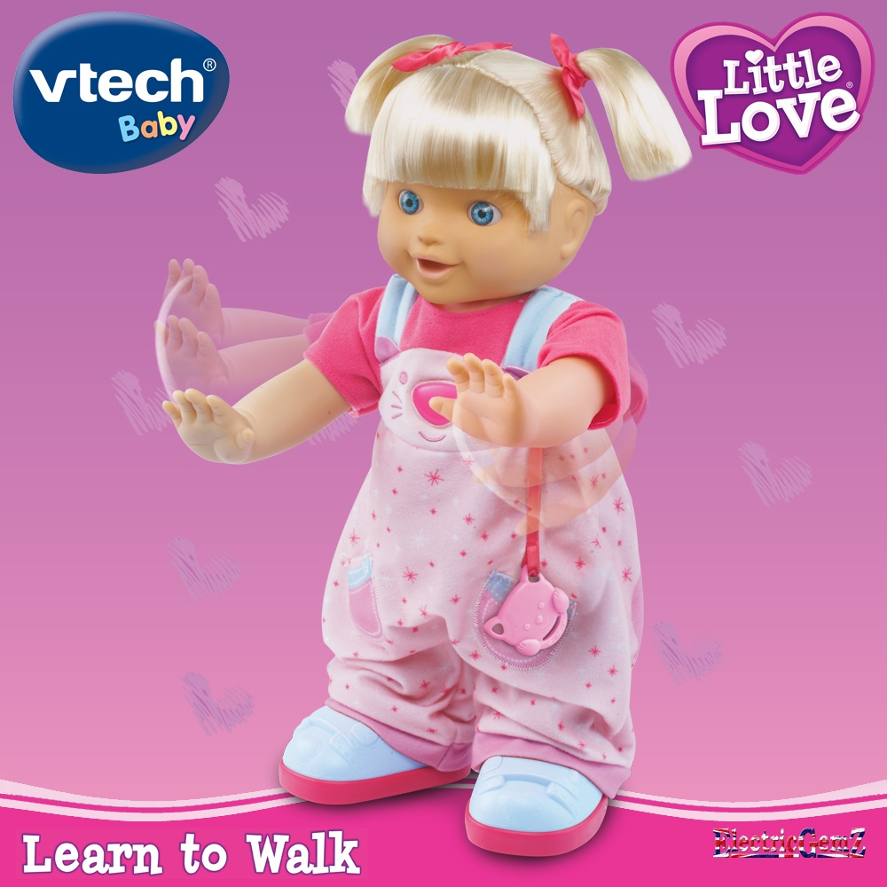 vtech little love learn to walk interactive doll. Black Bedroom Furniture Sets. Home Design Ideas