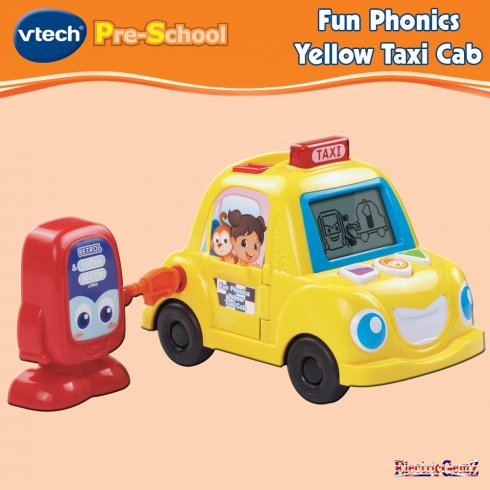 vTech Pre-School Fun Phonics Yellow Taxi Cab