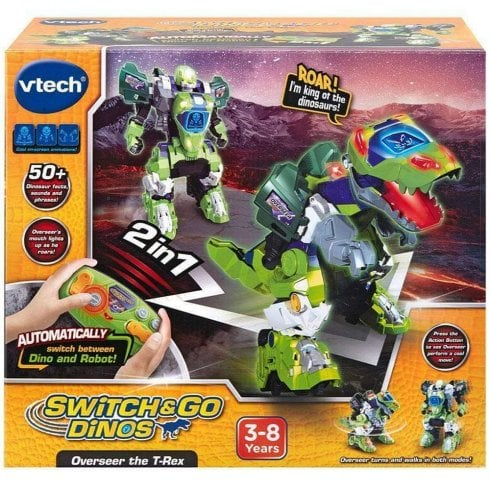 vTech Switch & Go Dinos Remote Control Overseer the T-Rex