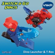 vTech Switch & Go Dinos Turbo Launcher & T-Rex
