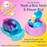 Zhu Zhu Babies Peek-a-Boo Nest and Power Pod