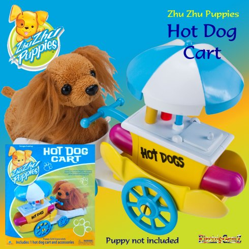 Zhu Zhu Puppies Hot Dog Cart